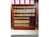full set encyclopedias britannica in its own book case