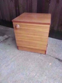 Bedside table wood brown shelf delivery available