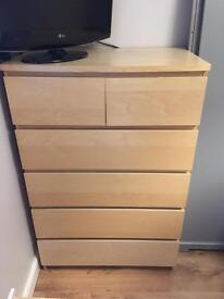 Chest of 6 drawers- birch