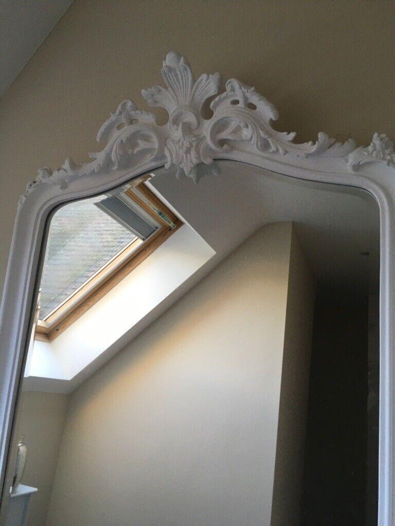 Laura Ashley White Patricia Floor Mirror In Cambridge