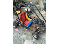 Kids petrol driven off-road rally buggy with roll cage