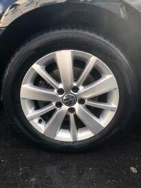 Genuine vw golf mk6 alloy wheels 5✖️122
