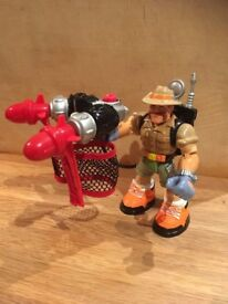 VGC RARE 2001 Fisher Price Mattel SEYMORE WILDE Rescue Heroes action figure figures. 6 inch tall
