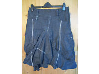 Dark blue denim Libra skirt size 12
