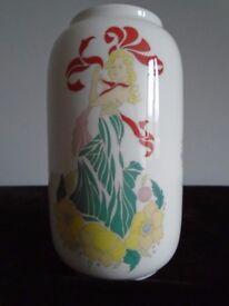 """Bone China Crown """" La Belles Femme"""" vintage vase"""