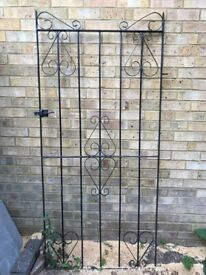 Black Metal Detailed Gate