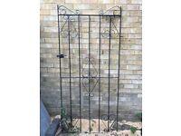 Black Metal Detailed Gate