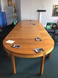 Boardroom Conference 4 ps table. 20 comfy posh chairs