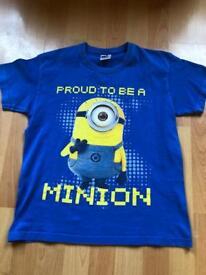 Boys Minion T Shirt Age 9-11 Years