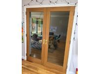 Oak framed glass doors