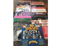 Collection of vinyls, box sets and record player