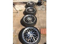 "18"" inch Alloys Calibre Wheels With Good Tyres"
