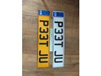 P33 TJU Peter Peet privat Cherished personal personalised registration plate number