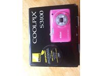 Pink Nikon Coolpix S3100 Compact Digital Camera Immaculate