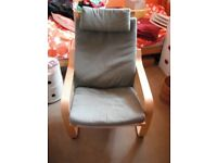 IKEA Poang armchair with green cover