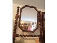 Barley Twist Oak Dressing Mirror