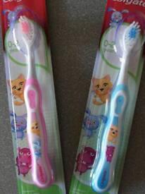 Baby smiles toothbrush
