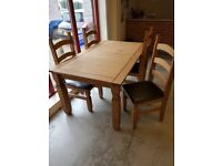 Corona 5ft Dining Table & Chairs
