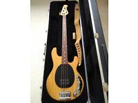 Ernie Ball Musicman Stingray USA Bass 3 Band EQ with hard case - natural