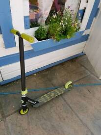 Stunted stunt scooter. Green and black. Non smoking home