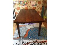 Solid wood dark wood dining table 4-6 seater