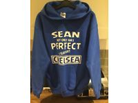 Personalised Chelsea Fan Hoody / Jumper for Boy named Sean