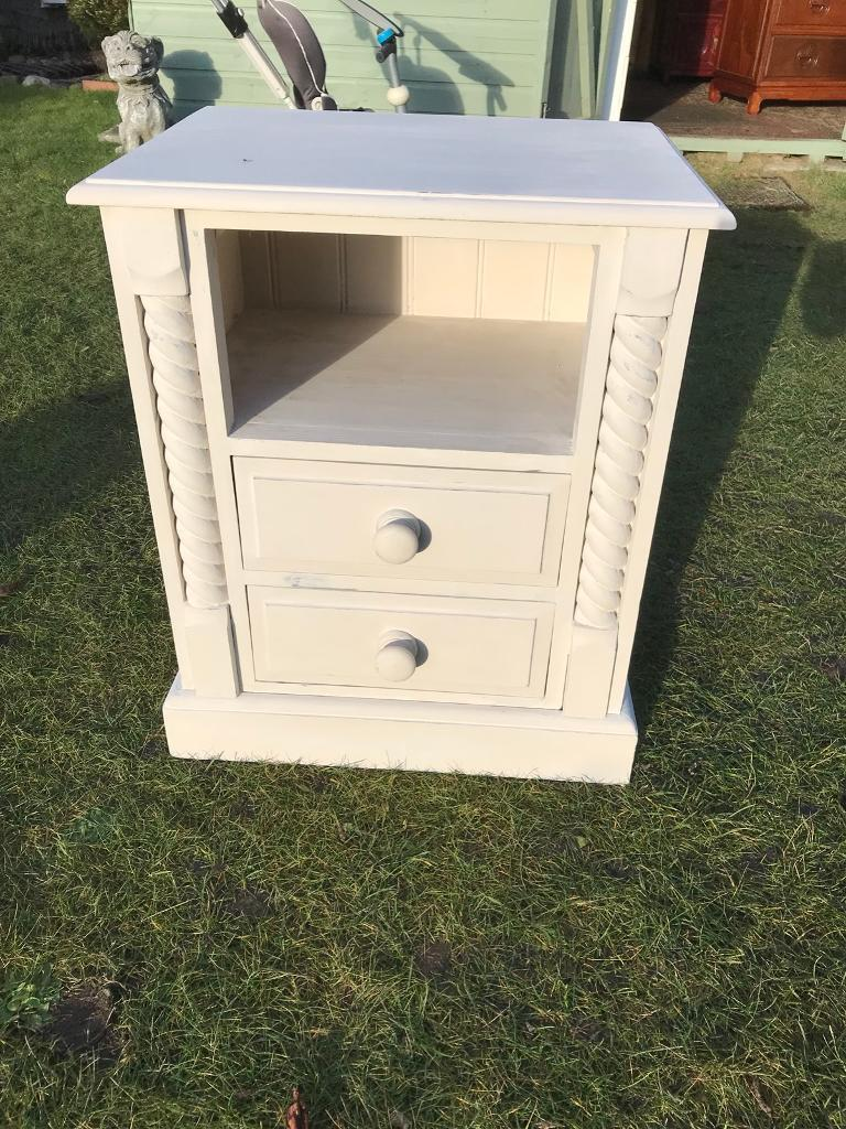 Solid pine painted bedside (can deliver )