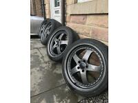 5x112 VW/Aud/Skoda/Seat Deep dish alloy wheels Gunmetal Grey 19""