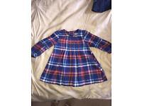 Next tartan baby girl dress 3-6m