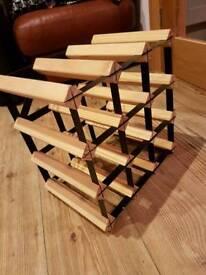 **£10** Metal and wood Wine Rack