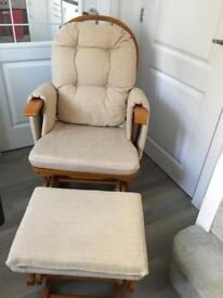 Rocking Chair and foot stall x2 (£100 for both)