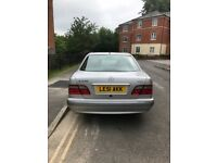 Mercedes Benz E class 320cdi silver, diesel, one owner, reg 2002