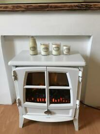 Stove effect electric fire with remote control.