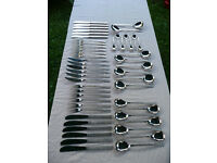 Vintage 1960s Viners Of Sheffield 52 Piece stainless steel STUDIO Cutlery Set