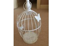 Pretty Birdcages used for wedding centre piece at wedding filled with flowers 6 available