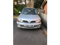 2002 Nissan Micra 1000cc SE16v. Silver, 71k miles MOT until April 2019 VGC