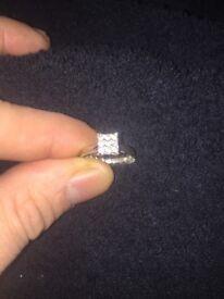 White gold diamond engagement