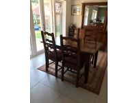 Irish Coast Collection Extending Dining Table & 4 Chairs, Mirror and Sideboard