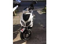 50 cc moped with chain and helmet £250