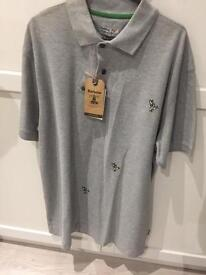 Brand New With Tags Barbour Polo T-Shirt Size L