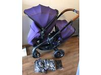 Unused ex-demo Egg Double Pushchair RRP £1,100