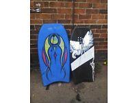 Surfing body boards