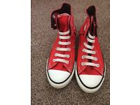 Red converse boots uk size 2.5