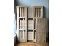 Wooden Shelves - stackable and folding