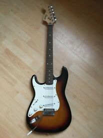 Electric guitar - left handed fender strat squier