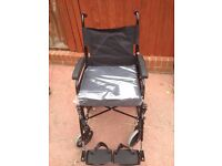 WHEELCHAIR FOLD ABLE CHAIR A WHEELS FOR DISABLED AND ELDERLY