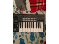 Notation Launchkey 25 midi controller