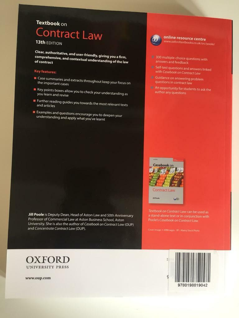 Law textbook on Contract Law | in Clapham, London | Gumtree