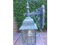 Vintage antique outdoor lamp lantern light