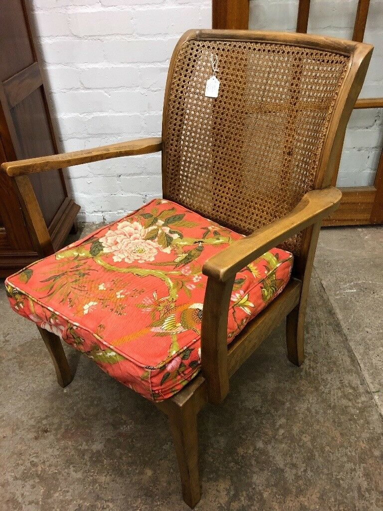 Antique Bergere backed chair. Lovely condition